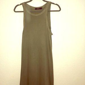 Halter Polo dress-olive